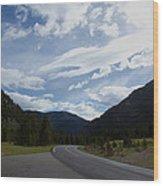Road Through The Mountains Wood Print