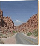 Road Throught The Valley Of Fire Wood Print