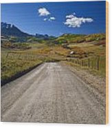 Road To A Beautiful Valley Ranch Wood Print