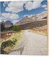 Road To Beinn Eighe Wood Print