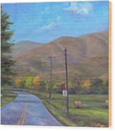 Road to Cold Mountain Wood Print
