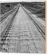 Road To Everywhere Bw Wood Print