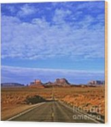 Road To Monument Valley Wood Print