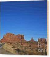 Road To Monument Valley V2 Wood Print