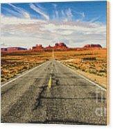 Road To Navajo Wood Print