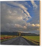 Road To Nowhere Wood Print by JM Photography    Jim Mullholand