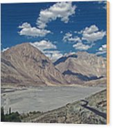 Road To Nubra Valley Wood Print