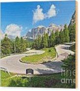 road to Pordoi pass Wood Print