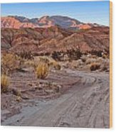 Road To The Badlands Wood Print