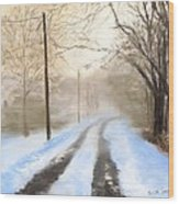 Road To The Ice House Wood Print