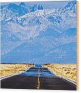 Road To The Mountains Wood Print