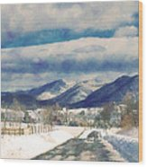 Road To The Mountains Wood Print by Kathy Jennings