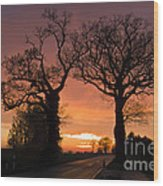 Road To The Night Wood Print