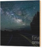 Road To The Stars Wood Print