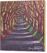 Road To The Unknown Wood Print