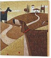 Road To Tuscany Wood Print