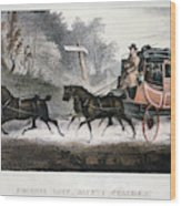 Road Travel/stagecoach Wood Print