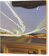 Road Viewed From A Car, Atlanta, Georgia Wood Print