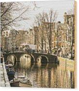 Roads Of Amsterdam Wood Print