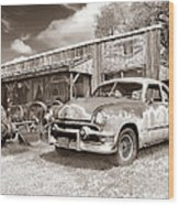 Roadside Antiques Wood Print