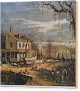 Roadside Inn, 1872 Wood Print