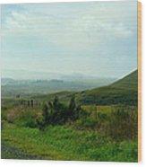 Roadside Ranch Lands Wood Print
