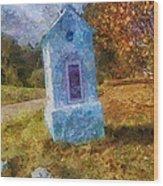 Roadside Shrine Wood Print