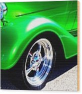 Roadster Wheels Wood Print