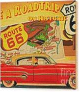 Roadtrip Wood Print