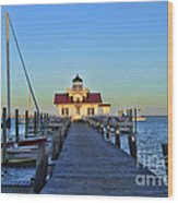 Roanoke Marches Lighthouse Wood Print