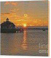 Roanoke Marshes Lighthouse 3210 Wood Print