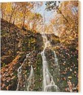 Waterfall - Roaring Brook Autumnlands Wood Print