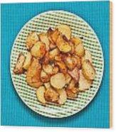 Roast Potatoes Wood Print