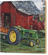 Rob Smith's Tractor Wood Print by Lee Piper
