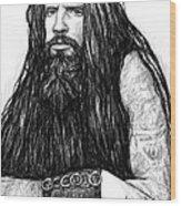 Rob Zombie Art Drawing Sketch Portrait Wood Print