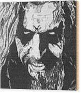Rob Zombie Wood Print