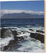 Robben Island View Wood Print