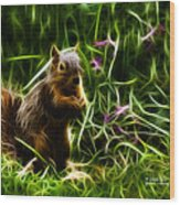 Robbie The Squirrel -0146 - F Wood Print