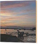Robbin's Island Wharf Wood Print