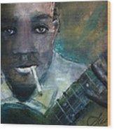 Robert Johnson Crossroad Blues Wood Print