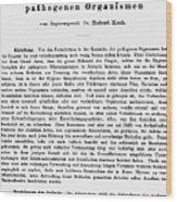 Robert Koch: Paper, 1881 Wood Print