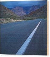 Robert Melvin - Fine Art Photography - Blue Diamond Storm Wood Print