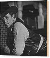 Robert Mitchum Leaning On Poker Table Young Billy Young Set Old Tucson Arizona 1969-2008 Wood Print
