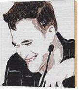 Robert Pattinson 184 Wood Print