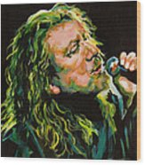 Robert Plant 40 Years Later Like Never Been Gone Wood Print by Tanya Filichkin
