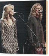 Robert Plant And Alison Kraus Wood Print