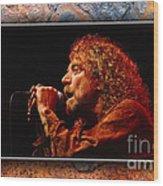 Robert Plant Art Wood Print by Marvin Blaine