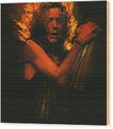 Robert Plant Led Zeppelin Wood Print