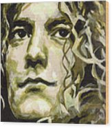Robert Plant. Golden God Wood Print