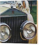 Robert Redford By A Rolls-royce Wood Print